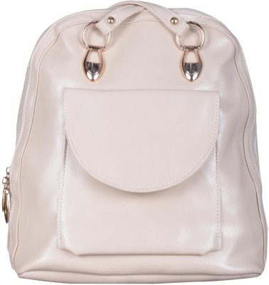 JAGADHARTI Girls White Velvet Shoulder Bag