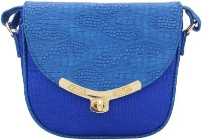 The Peacock Craft Women Blue Jute Sling Bag