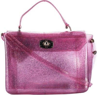 Fashion Knockout Women Casual Pink Silicon Sling Bag