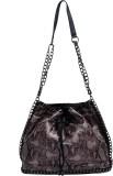 Super Drool Women Grey PU Sling Bag