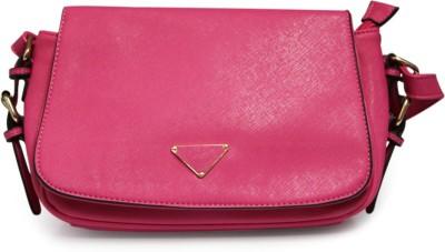 Fab Fashion Women, Girls Pink PU Sling Bag