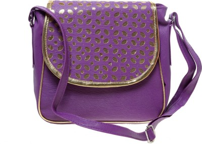 Tripssy Women Purple Leatherette Sling Bag