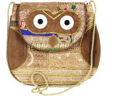 Dyuthi Creations Women Brown Velvet Sling Bag