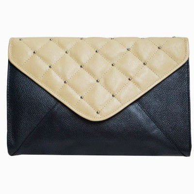 Jeane Sophie Women Casual, Evening/Party Blue, Beige Genuine Leather Sling Bag