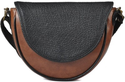 Goguava Women Casual Brown Genuine Leather Sling Bag