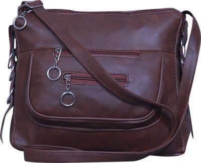 Notbad Girls Brown Leatherette Sling Bag