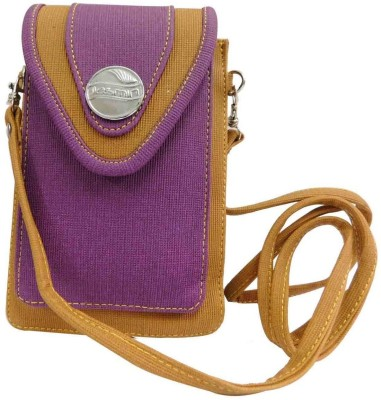 Laviva Women Brown, Purple Denim Sling Bag