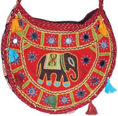 Prajo Women Red PU Sling Bag