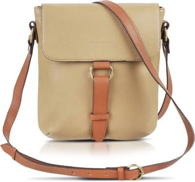 Kooltopp Girls, Women Beige Leatherette Sling Bag