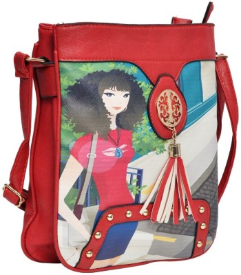 Hawai Women Casual Red PU Sling Bag