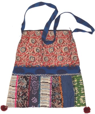 Hand to Hearts Women Multicolor Cotton Sling Bag
