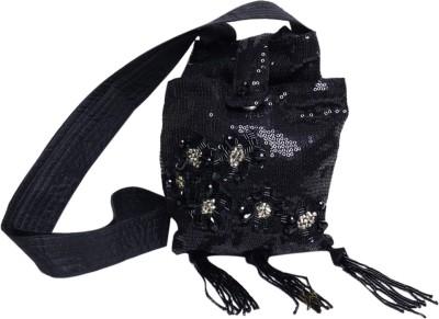 Jademist Women Black Polyester Sling Bag