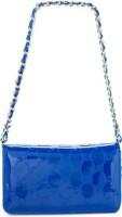 Bebe Women Blue Genuine Leather Sling Bag