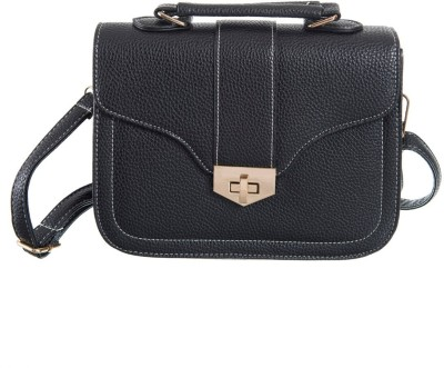 Peaubella Girls, Women Black Leatherette Sling Bag
