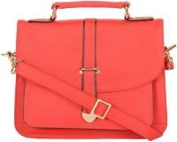 Attachover Services Women Red PU Shoulder Bag