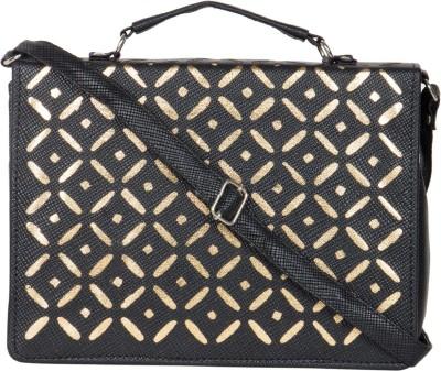 MTE Girls Black Leatherette Sling Bag