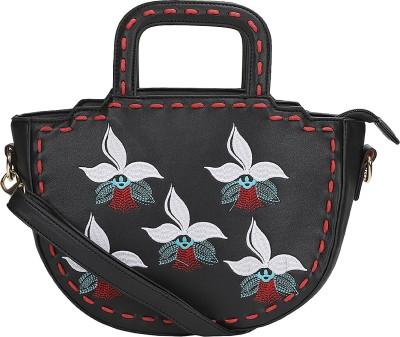 Leora Women Black, Red PU Sling Bag