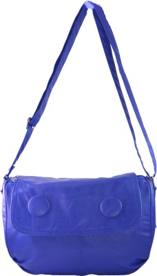 Felicita Women Casual, Evening/Party Blue PU Sling Bag
