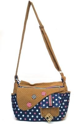 Fashion Knockout Girls, Women Blue Cotton Sling Bag