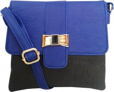Falah Bag Works Girls Blue PU Sling Bag