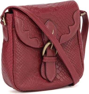 Hidesign Women Maroon Sling Bag