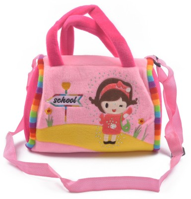 Koochie-Koo Girls Pink Cotton Sling Bag