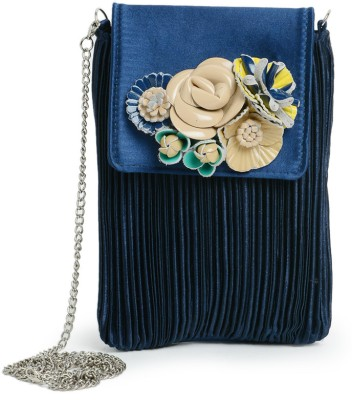 Sparkle Street Women Blue PU Sling Bag