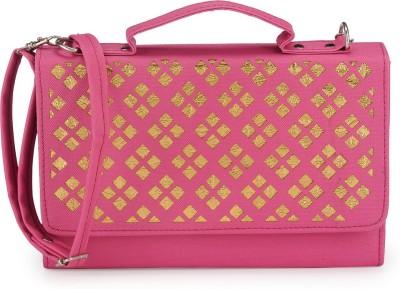 Bags Craze Women Pink PU Sling Bag