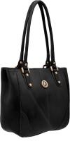 JFL - Jewellery for Less Women Black Genuine Leather Shoulder Bag