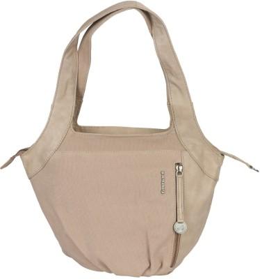 Fastrack Girls, Women Beige Canvas, PU Shoulder Bag
