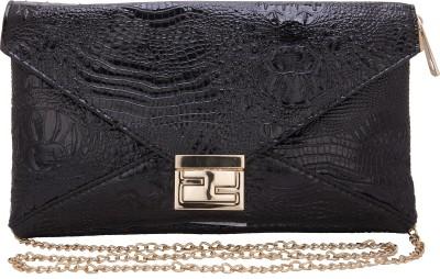 Aliza Women Evening/Party Black PU Sling Bag