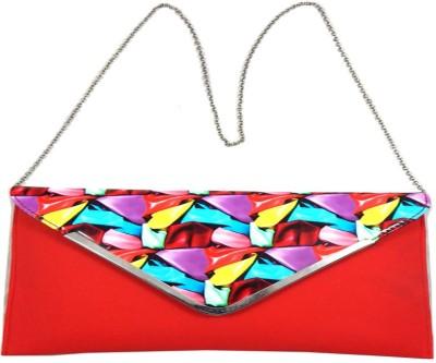 mezzo99 Women, Girls Red PU Sling Bag