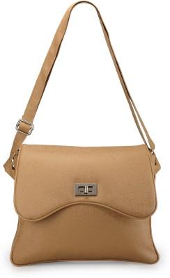 Bags Craze Women Beige PU Sling Bag