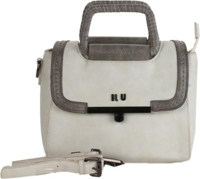 ILU Women White Genuine Leather Sling Bag