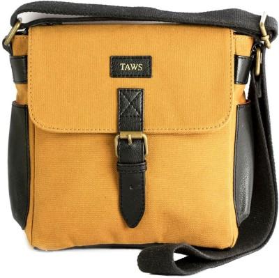 Taws Women Formal Yellow Canvas Sling Bag