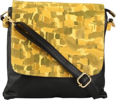 Quality Creators Women Yellow PU Sling Bag
