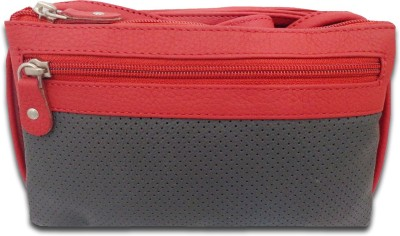 Style 98 Girls Casual Black, Red Genuine Leather Sling Bag