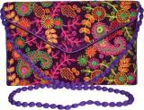 Vedic Deals Women Purple Canvas Sling Ba...
