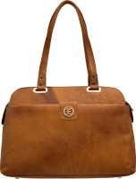 JFL - Jewellery for Less Women Tan Genuine Leather Shoulder Bag