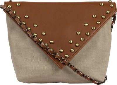 Kanvas Katha Girls, Women Brown Canvas Sling Bag