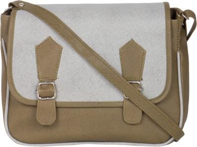 MTE Girls Green Leatherette Sling Bag