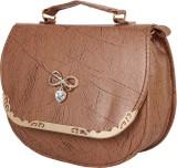 Ayeshu Women Brown PU Sling Bag