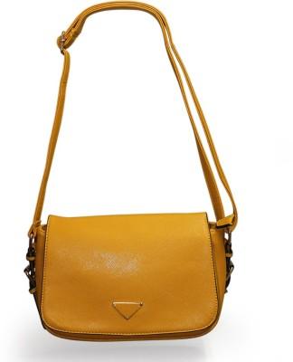 Fab Fashion Women Orange PU Shoulder Bag