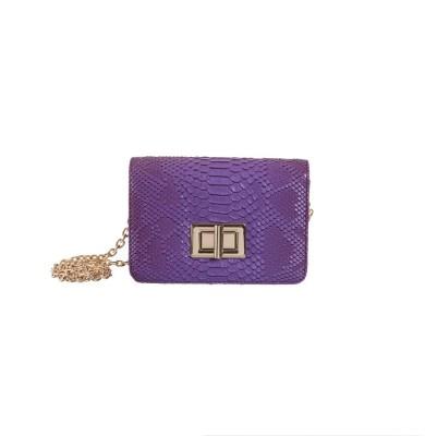 Peaubella Women, Girls Purple PU Sling Bag