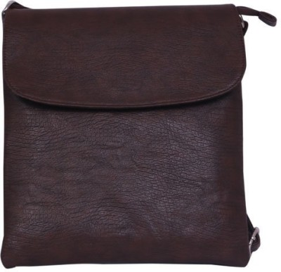 Divsam Girls, Women Brown PU Sling Bag