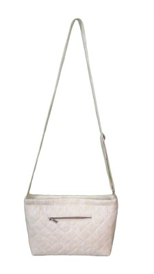 Niqab Boutique Women, Girls White Cotton Sling Bag