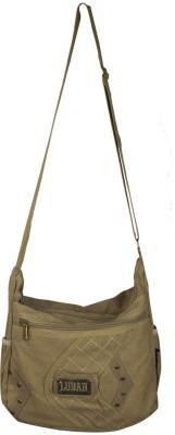 Ludan Men Beige Canvas Sling Bag