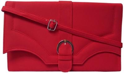 MTE Women Casual Red PU Sling Bag