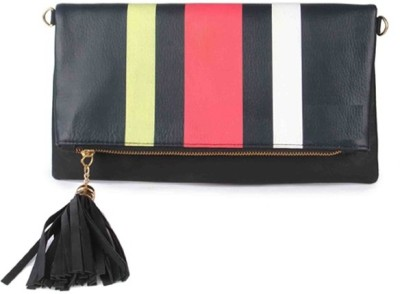 Zoe Makhoa Girls, Women Black Leatherette Sling Bag