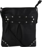 Bling It On Women Black PU Sling Bag